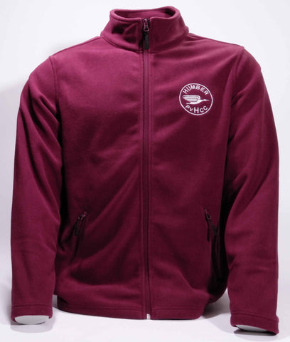 'new' Burgundy Micro-fleece Jacket with Humber Club logo