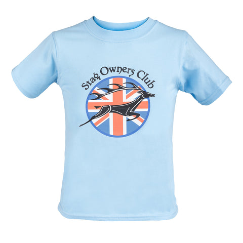 Adult T-Shirt with Union Jack SOC Logo- Light Blue