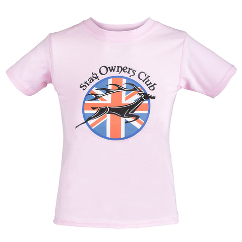 Kids T-Shirt with Union Jack SOC Logo - Pink