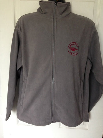 Horizon Microfleece (Dove Grey) with Maroon embroidered Humber club logo