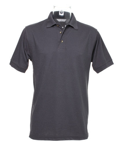 Charcoal Polo Shirt with Maroon embroidered Humber Club Logo