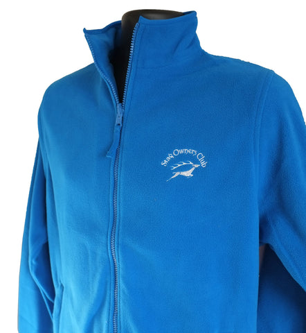 Ladies Zip Fleece Jacket - Vivid Blue XL (16)
