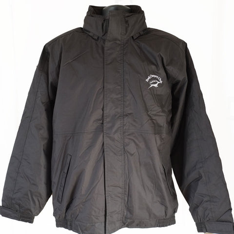 Core Mens Channel Jacket in Black with SOC embroidered logo