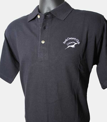 Mens Polo Shirt with SOC Logo - Black (Small only)