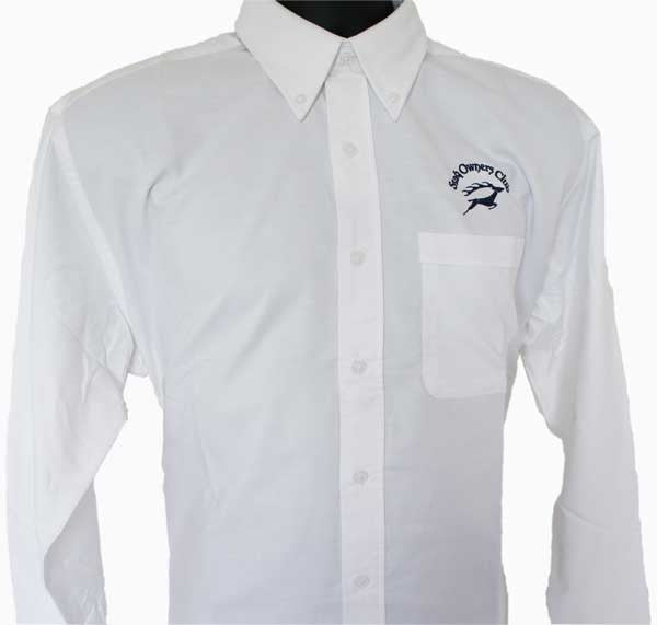 Mens Long Sleeve Oxford Shirt with Navy SOC Logo