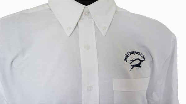 Mens Long Sleeve Classic Oxford Shirt with Navy SOC Logo