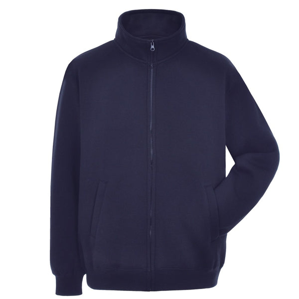 Full-zip Navy Blue Sweatshirt with SOC logo
