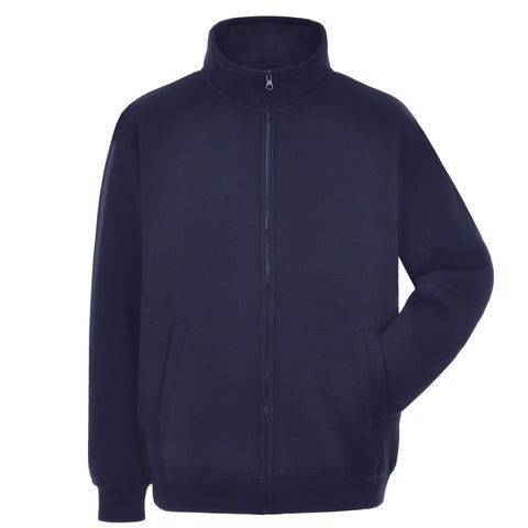Full-zip Navy Blue Jacket with SOC logo
