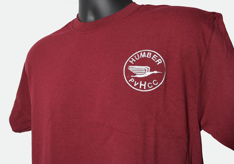 Adult T-Shirt with Humber Logo - Maroon