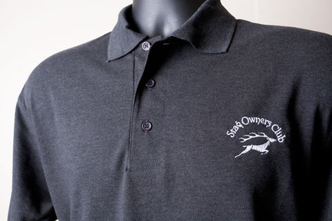 Charcoal Grey Polo Shirt with embroidered SOC Logo