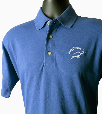 Royal Blue Polo Shirt with embroidered SOC Logo