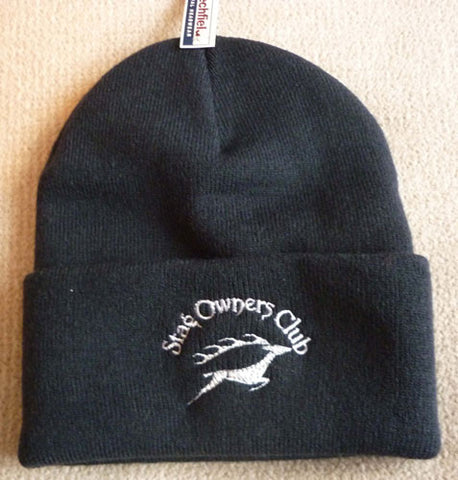 Woolly Hat with SOC Logo - Navy Blue