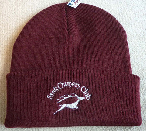 Woolly Hat with SOC Logo - Burgundy