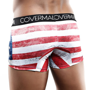 Cover Male CMG013 USA Flag Boxer Trunk