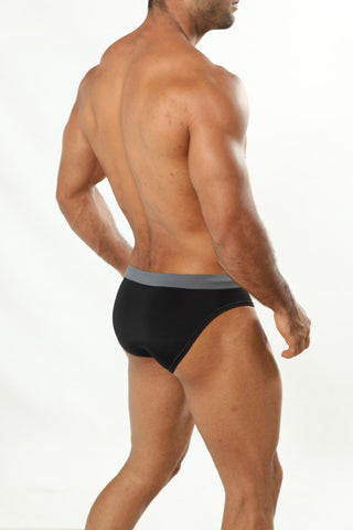 Cover Male CM0713   Charcoal Swim Brief