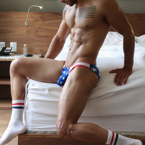 Cover Male CMJ018 USA Flag Bikini Brief