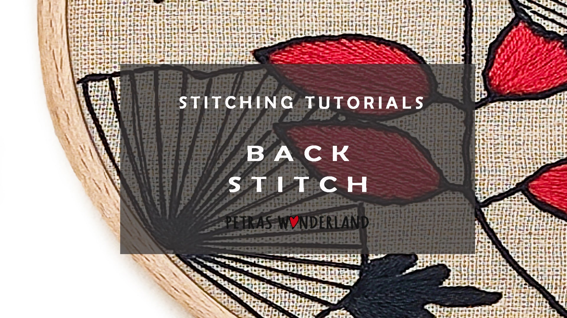 Back Stitch |  How to embroider for beginners
