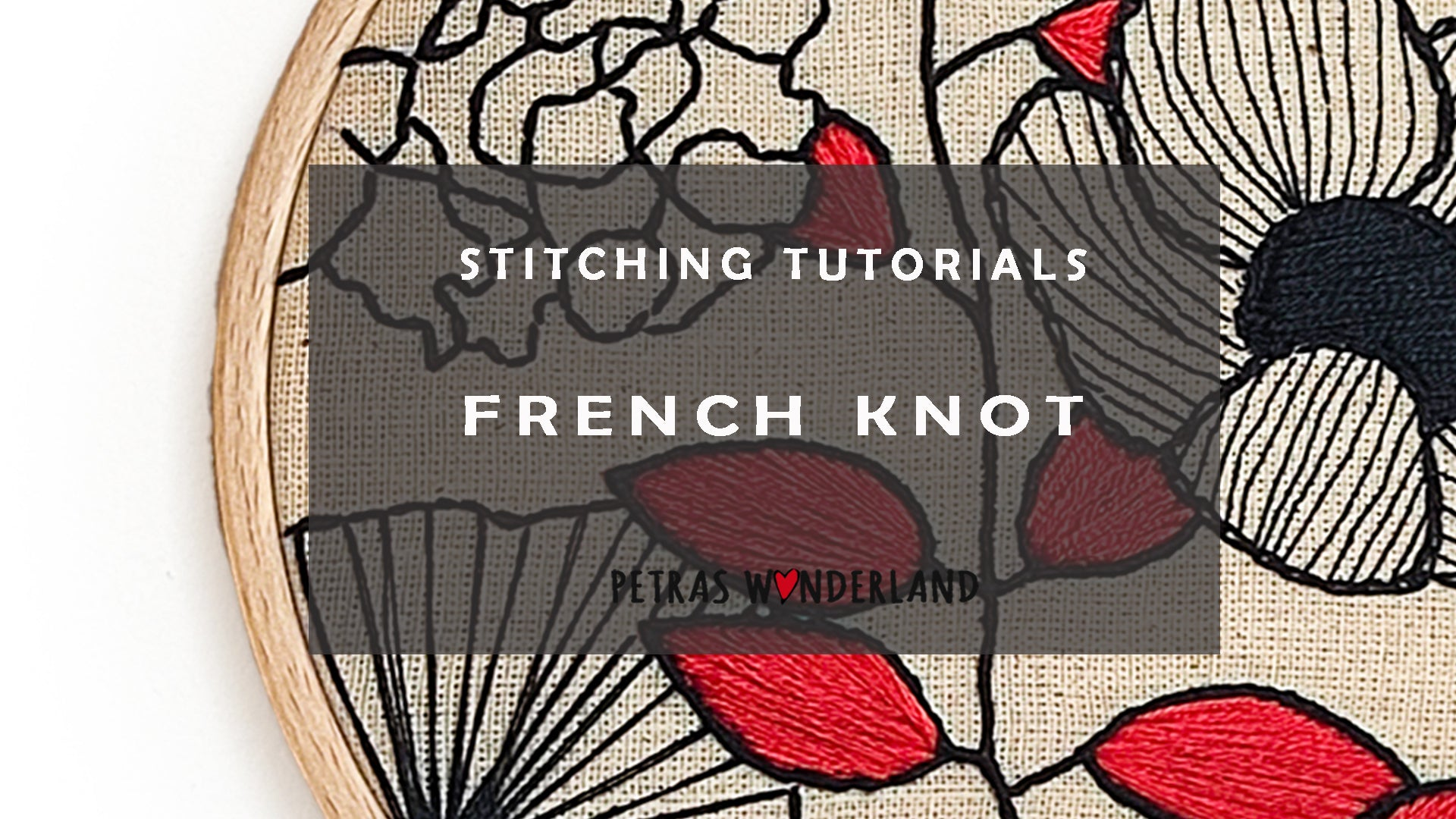 French Knot |  How to embroider for beginners