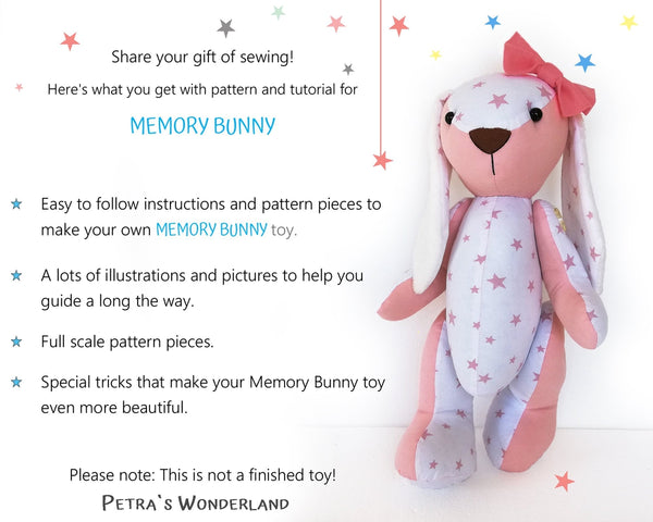 Memory Bunny - PDF doll sewing pattern and tutorial 08