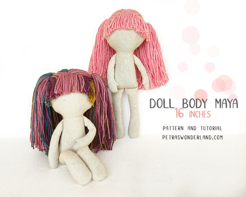 Doll Body Maya 16 inch - PDF sewing pattern and tutorial
