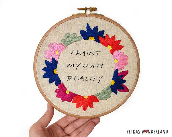 Famous Art Quote - PDF embroidery pattern and tutorial 01