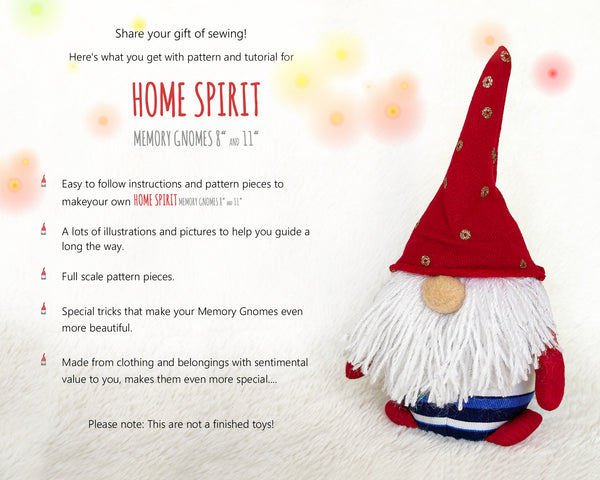 Home Spirit Memory Gnomes - PDF sewing patterns and tutorials 09