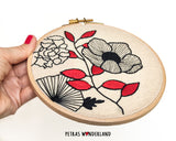 Flower Power - PDF embroidery pattern and tutorial 09
