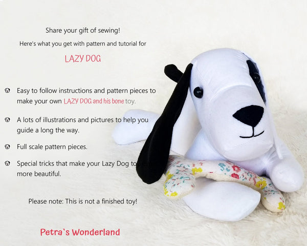 Lazy Dog - PDF doll sewing pattern and tutorial 08