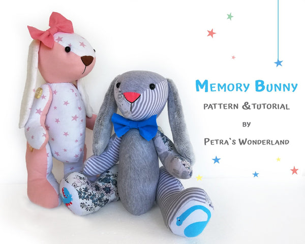 Memory Bunny - PDF doll sewing pattern and tutorial