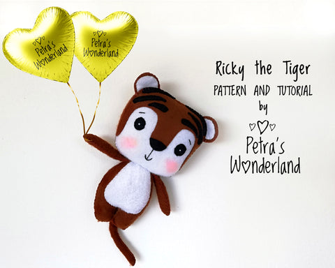 Ricky the Tiger - PDF doll sewing pattern and tutorial 01