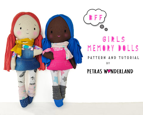Memory Dolls Girls - PDF sewing pattern and tutorial