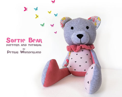 Softie Bear - PDF doll sewing pattern and tutorial