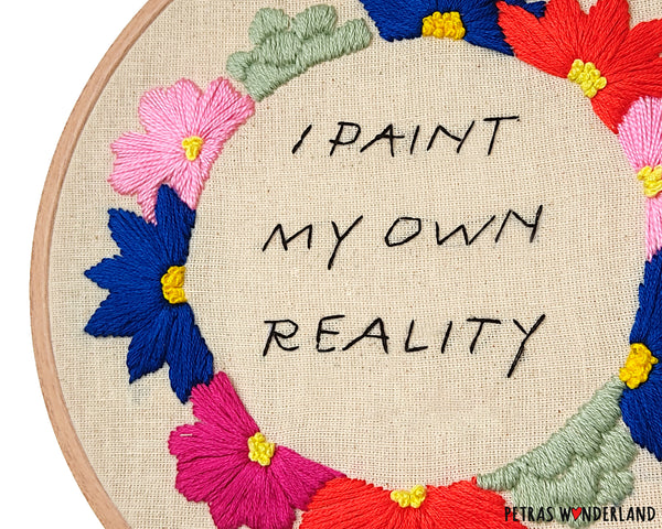 Famous Art Quote - PDF embroidery pattern and tutorial 02