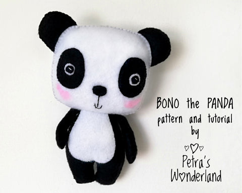 Bono the Panda - PDF doll sewing pattern and tutorial 01