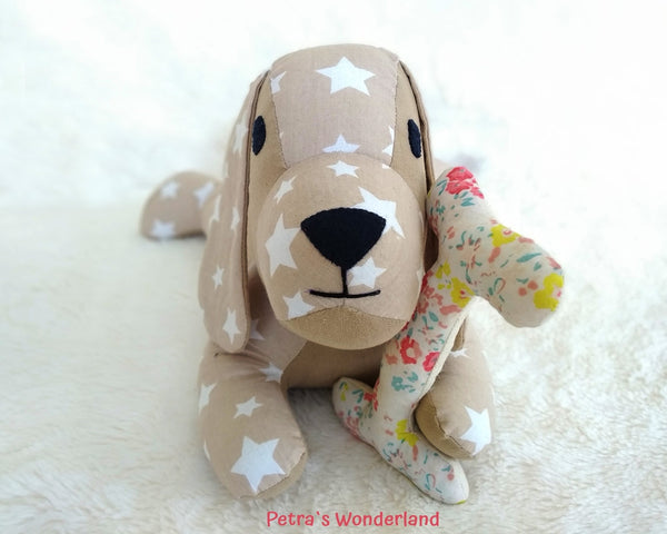 Lazy Dog - PDF doll sewing pattern and tutorial 01