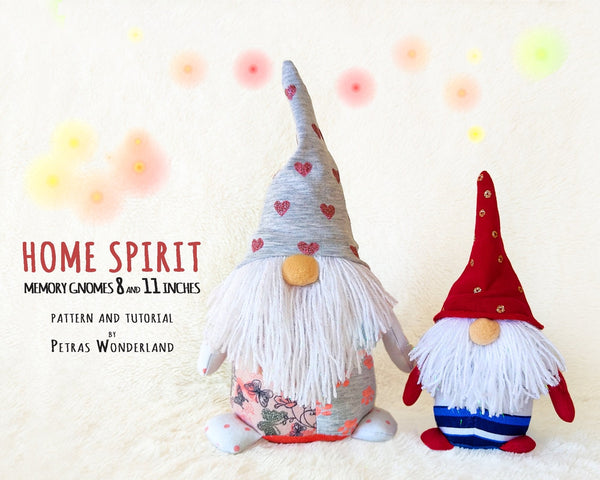 Home Spirit Memory Gnomes - PDF sewing patterns and tutorials