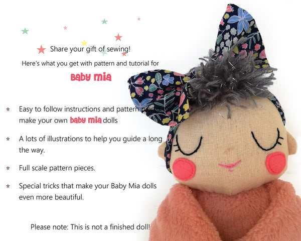 Baby Mia - PDF doll sewing pattern and tutorial 07