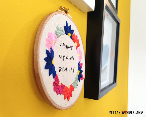 Famous Art Quote - PDF embroidery pattern and tutorial 03