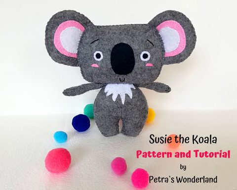 Susie the Koala - PDF doll sewing pattern and tutorial