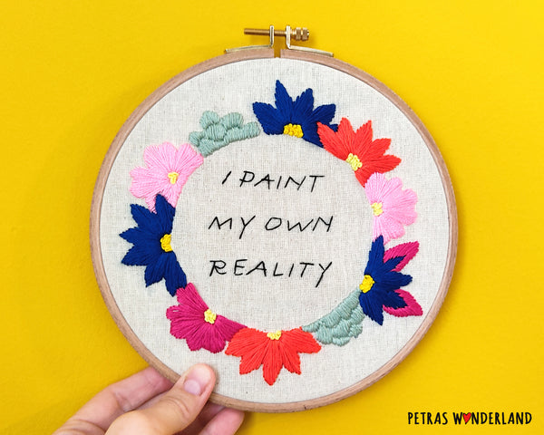 Famous Art Quote - PDF embroidery pattern and tutorial 04