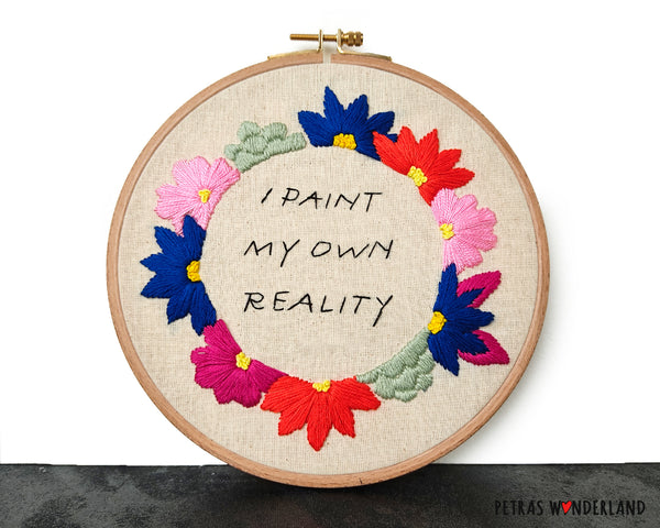 Famous Art Quote - PDF embroidery pattern and tutorial 05