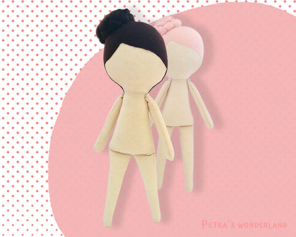Anny Doll Body 12 inch - PDF doll sewing pattern and tutorial 02