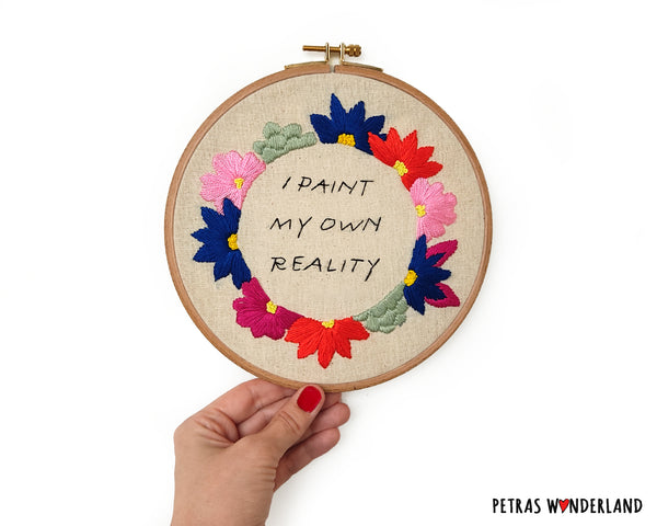 Famous Art Quote - PDF embroidery pattern and tutorial 06