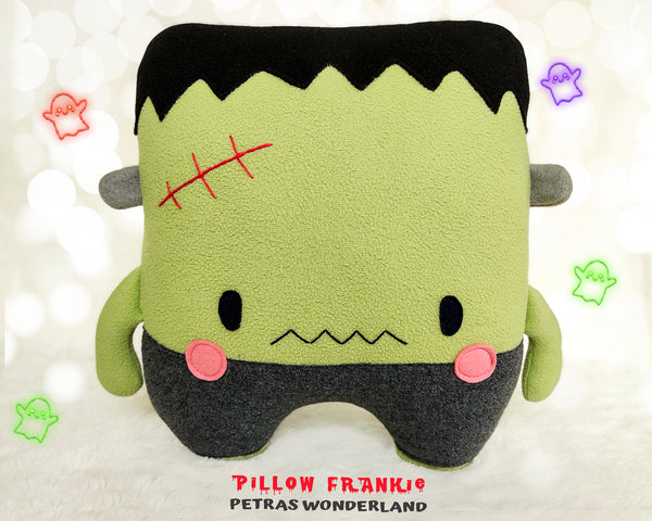 Halloween Set of 3 Frankie Pillow, Toy and Keychain - PDF toy sewing patterns and tutorials 05