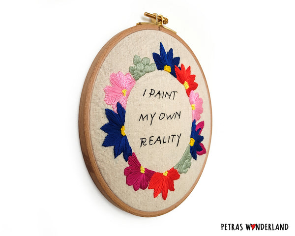 Famous Art Quote - PDF embroidery pattern and tutorial 07