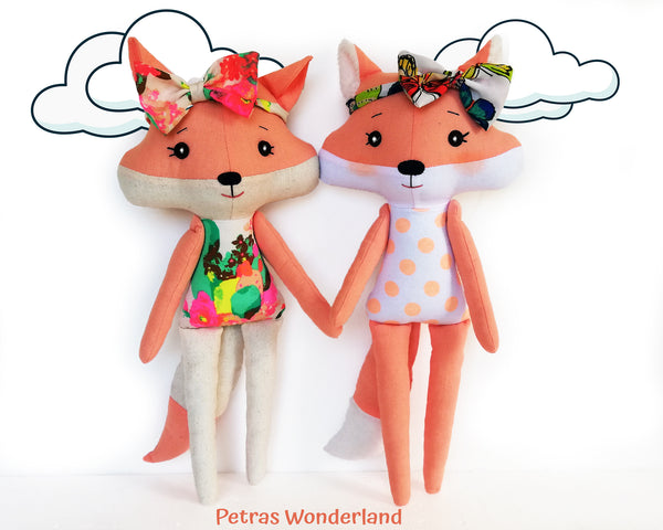 Set of 3 PDF Woodland Friends Bunny, Bear and Fox - Sewing Patterns and Tutorials 05