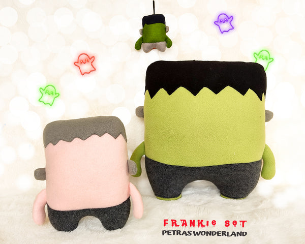 Halloween Set of 3 Frankie Pillow, Toy and Keychain - PDF toy sewing patterns and tutorials 10
