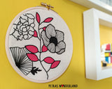 Flower Power - PDF embroidery pattern and tutorial 05