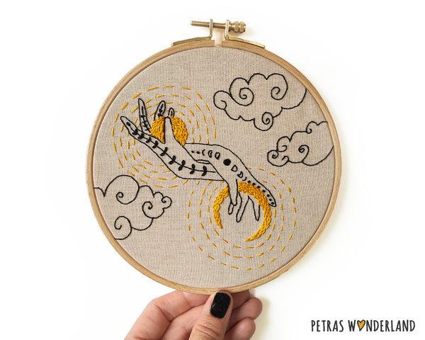 Sun and Moon in my Hands -  PDF embroidery pattern and tutorial 06