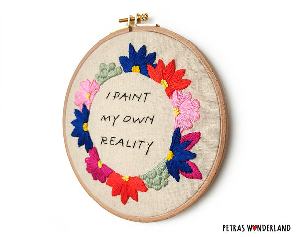 Famous Art Quote - PDF embroidery pattern and tutorial 08